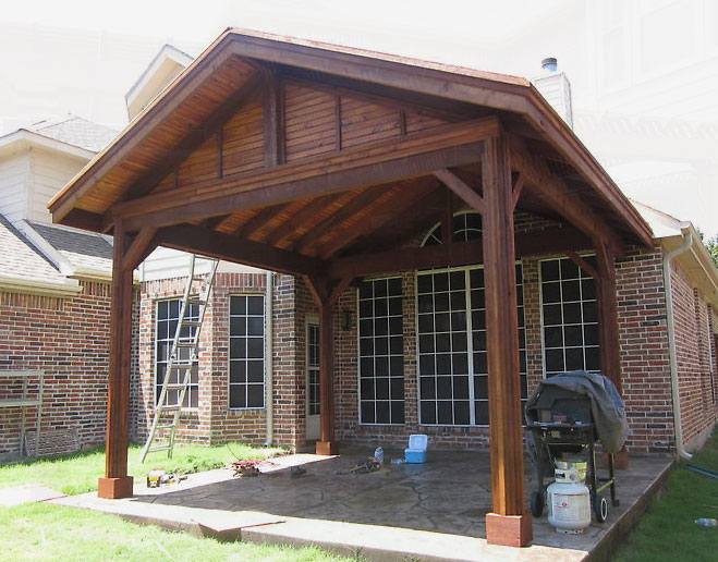 Patio Covers Dallas - Covered Patio, Patio Cover, Patio ... on Patio Cover Ideas id=66579